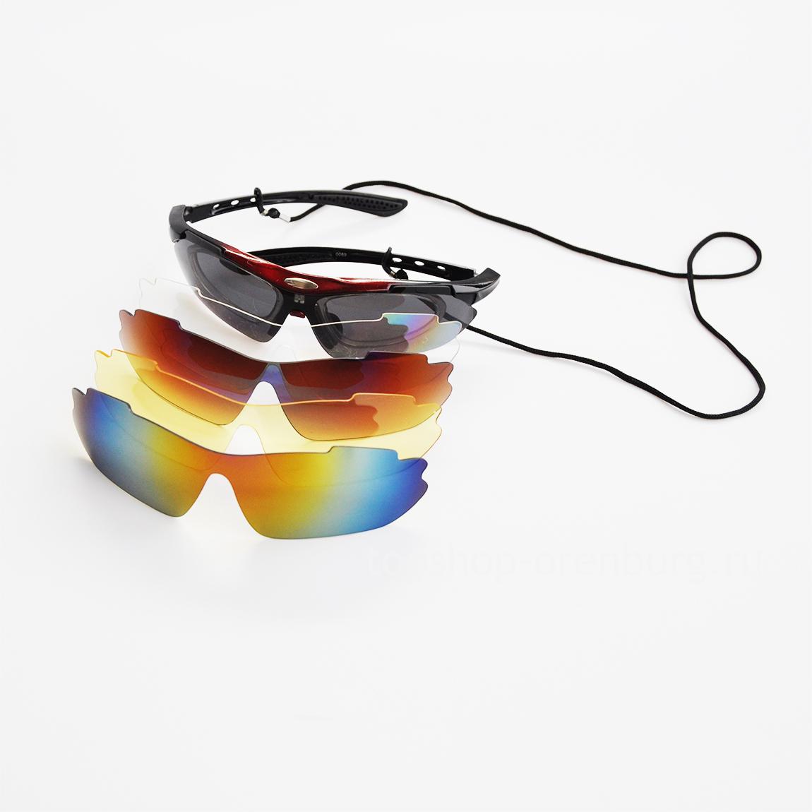 88810df7d1b6 Купить спортивные поляризационные солнцезащитные очки со сменными стеклами  (5 линз+чехол) BRADEX в интернет магазине ...