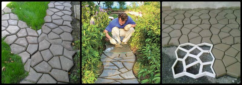 Формы для садовых плиток своими руками 57